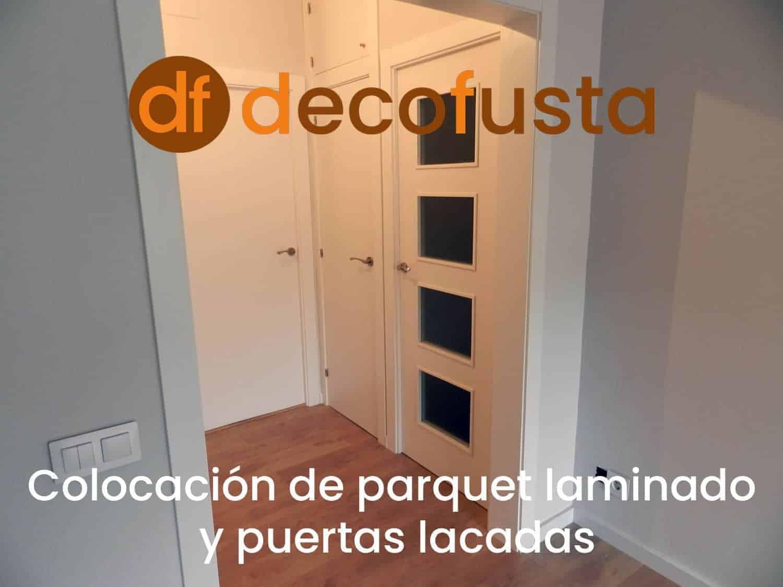 colocacion de parquet laminado y puertas lacadas