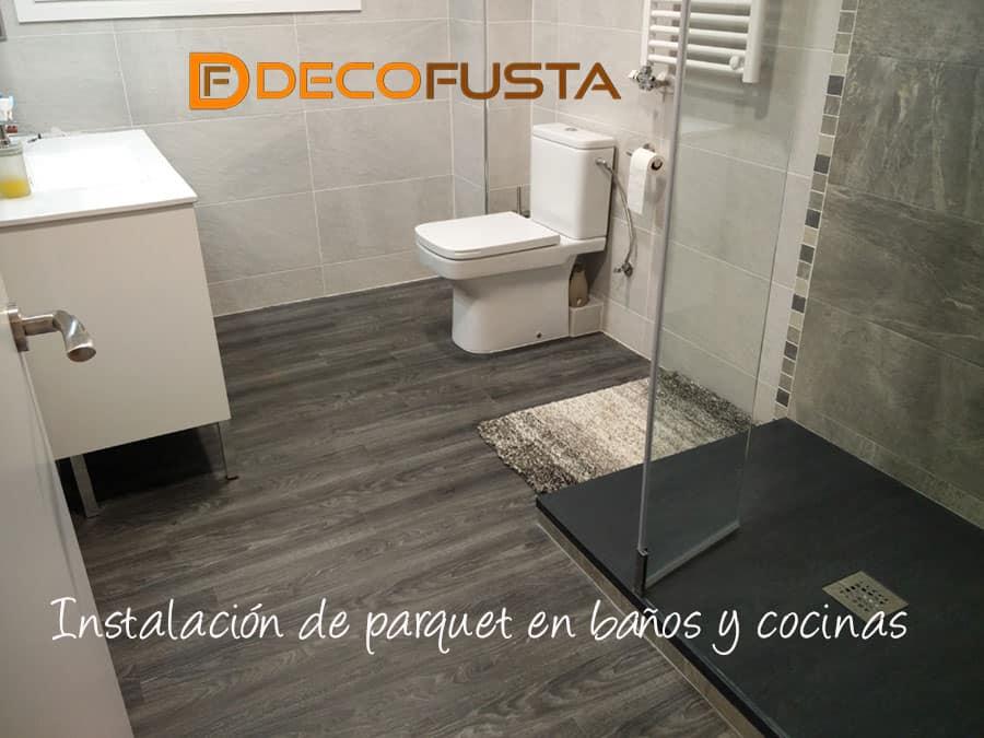 Instalación de parquet en baños y cocinas