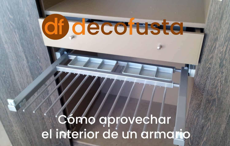como aprovechar el interior de un armario