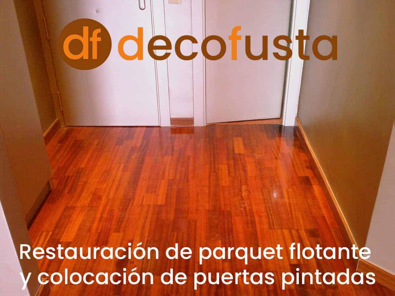 restauracion de parquet flotante y colocacion de puertas pintadas