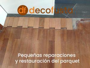 pequenas reparaciones y restauracion del parquet