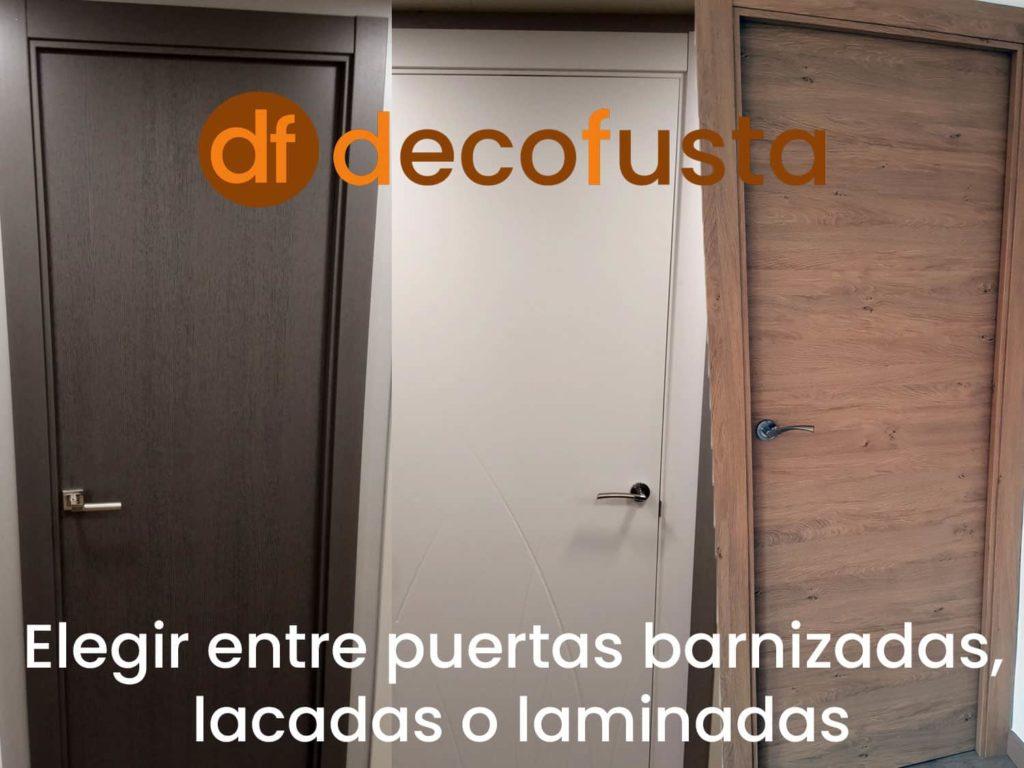 elegir entre puertas barnizadas lacadas o laminadas