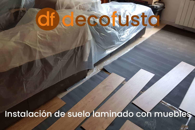 instalacion de suelo laminado con muebles
