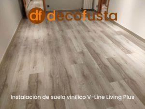 instalacion de suelo vinilico v line living plus
