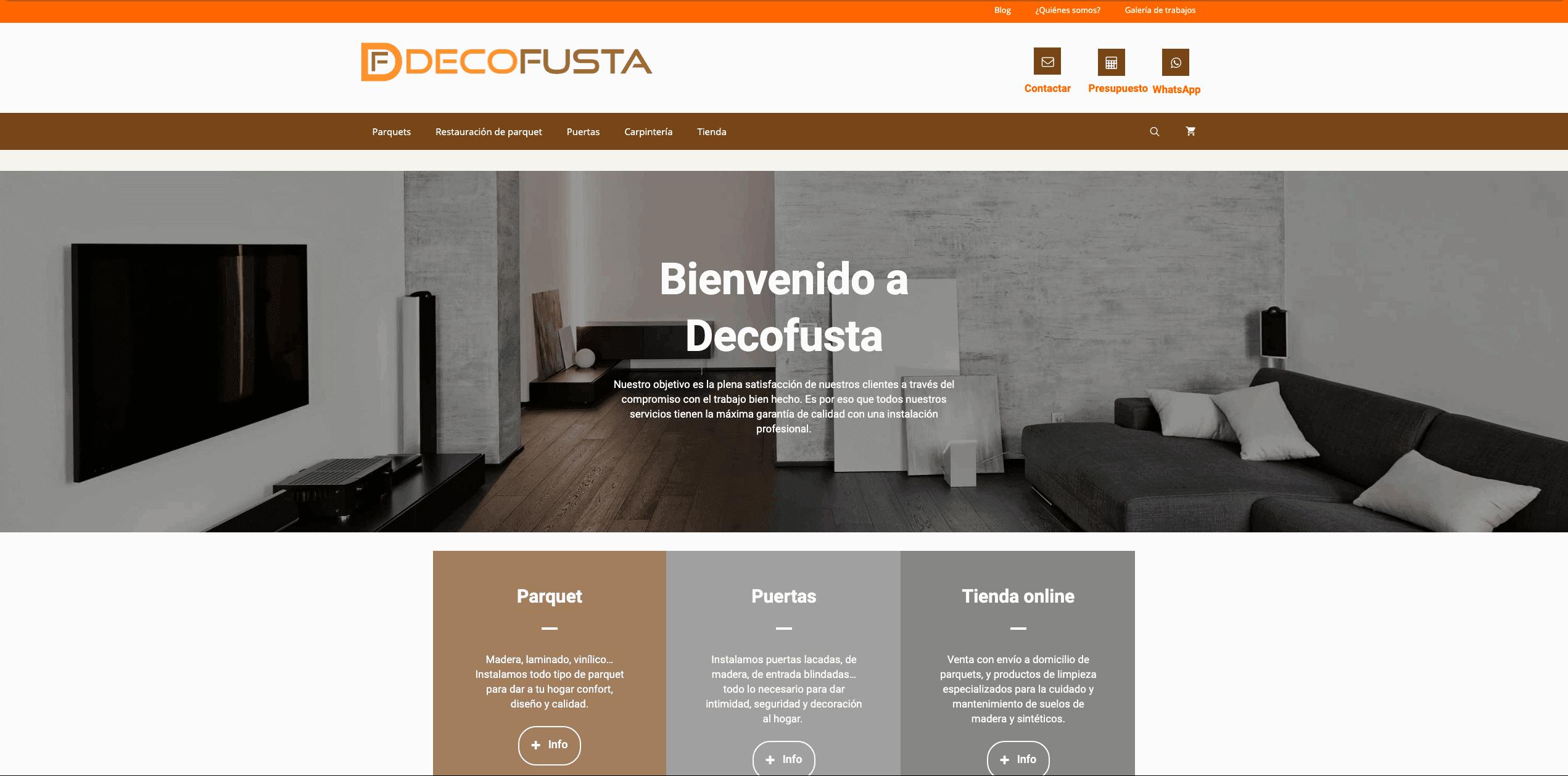 web decofusta desde el 2017 al 2018