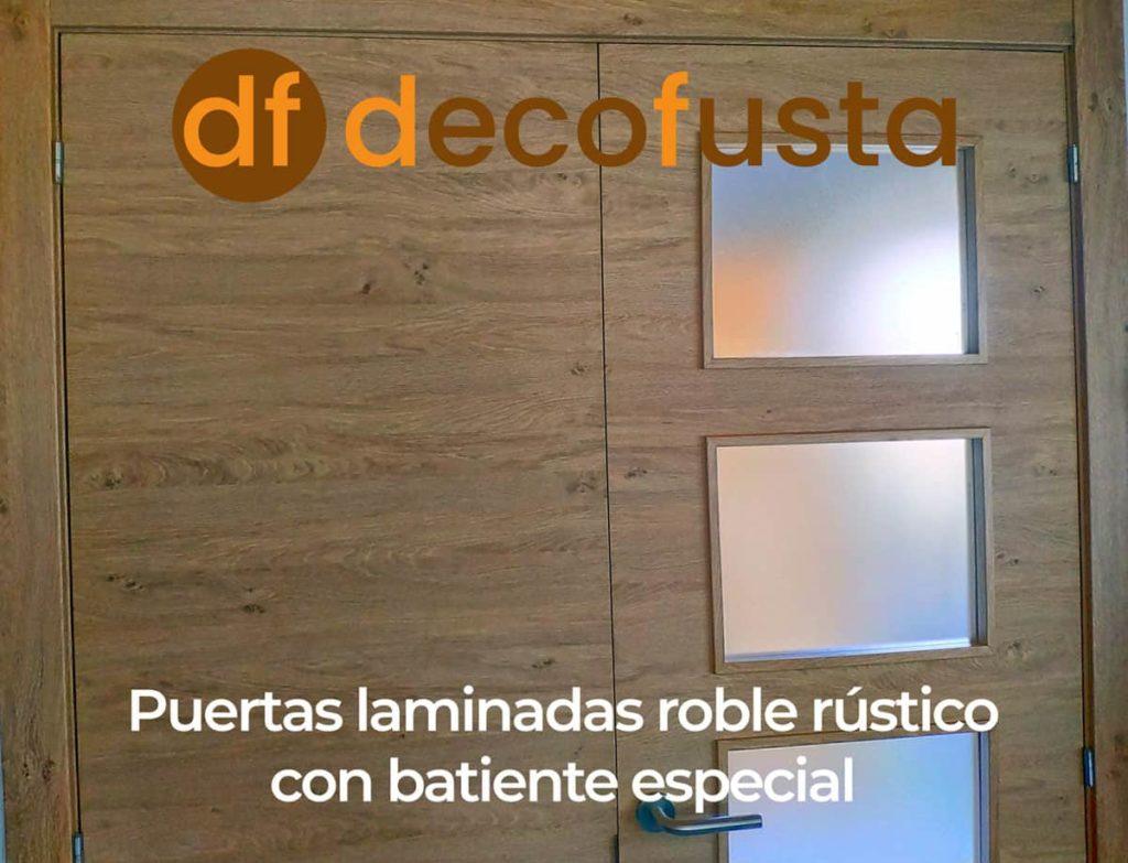 puertas laminadas roble rustico con batiente especial