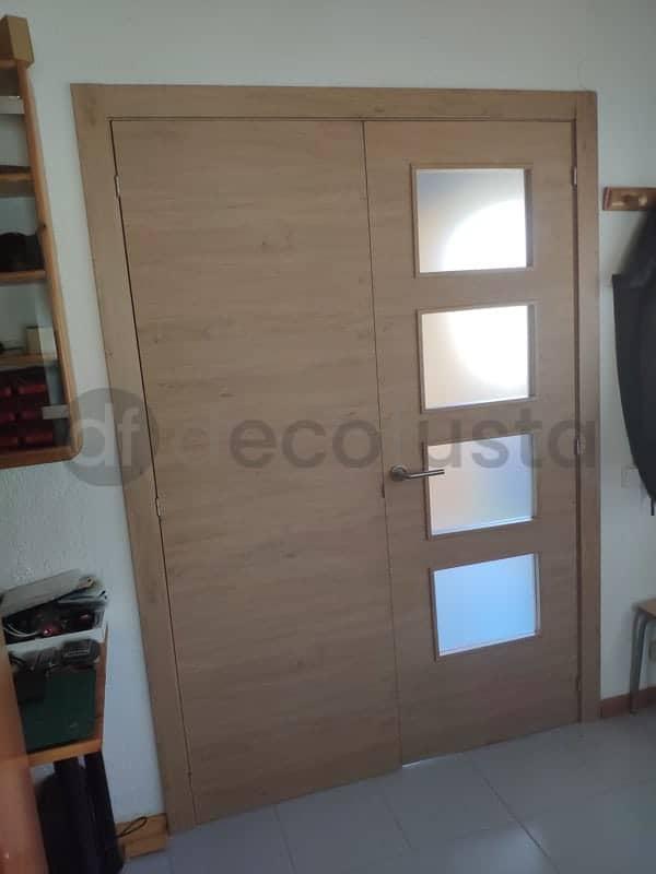 puertas roble rustico