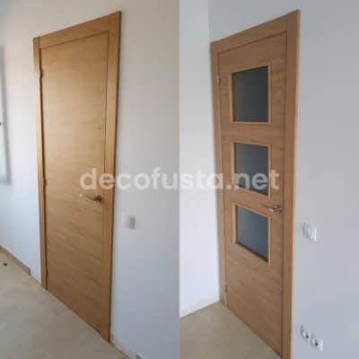 Puertas laminadas puertas roble rustico