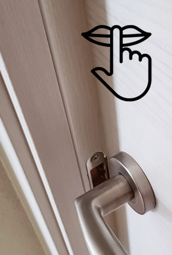 puertas sin ruido laminada