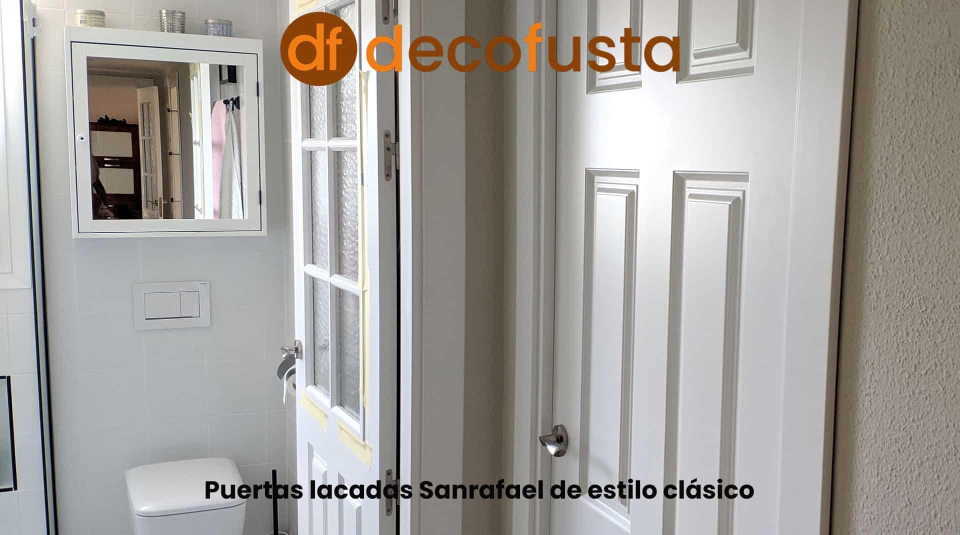 Puertas lacadas Sanrafael de estilo clásico