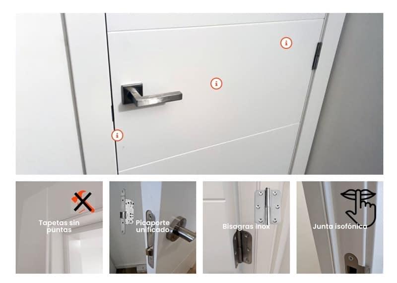 Caracteristicas premium de puertas lacadas