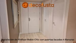 Instalación de Finfloor Roble Chic con puertas lacadas 4 Ranuras