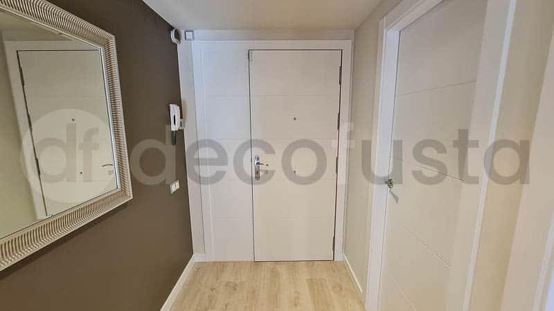 Instalacion de rocle con puertas lacadas