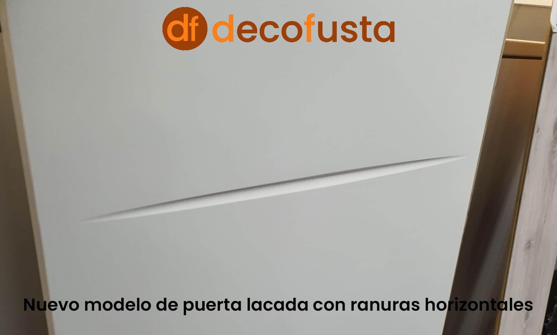 Nuevo modelo de puerta lacada con ranuras horizontales