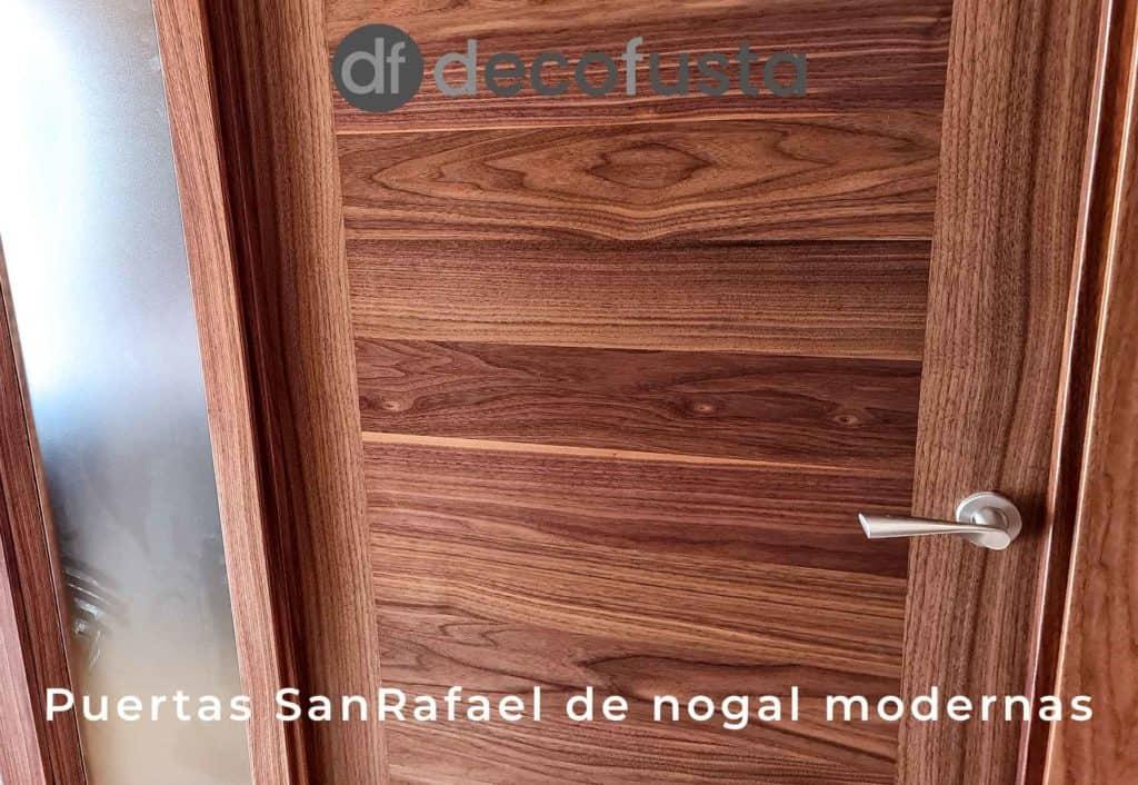 Puertas SanRafael de nogal modernas