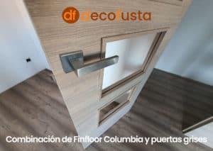 Combinación de Finfloor Columbia y puertas grises