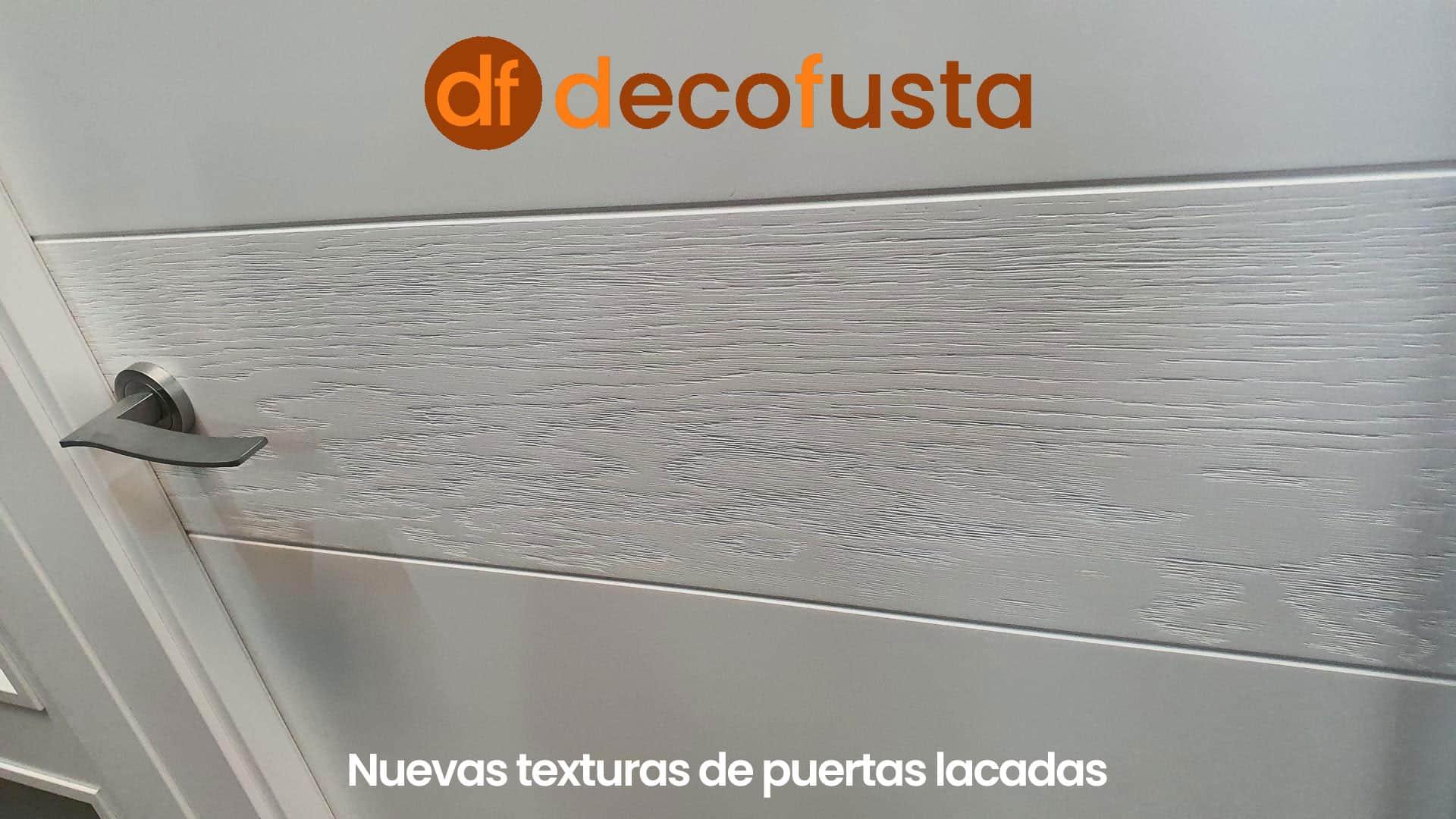 Nuevas texturas de puertas lacadas