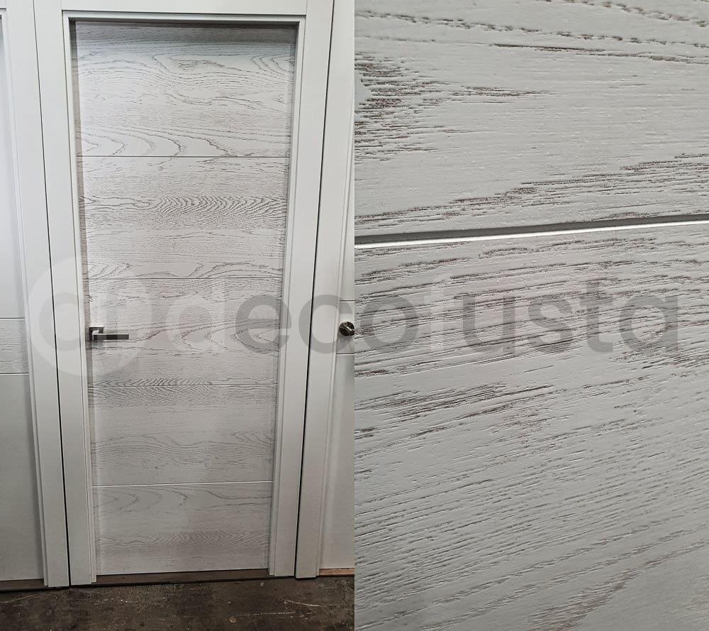 Puerta lacada cuatro ranuras con textura