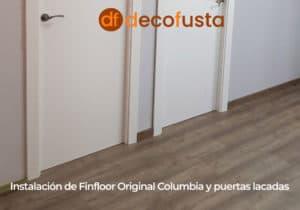 instalacion de finfloor original columbia y puertas lacadas