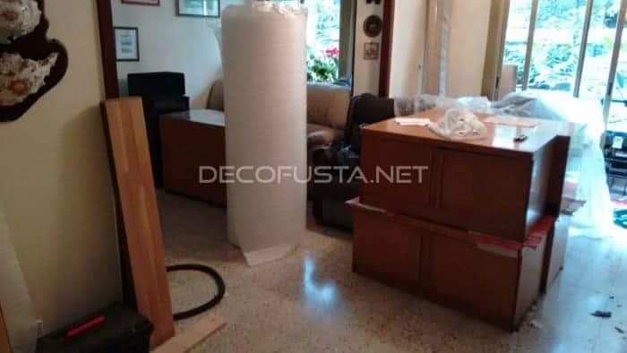 Instalación con muebles