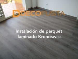 Instalacion de parquet laminado Kronoswiss