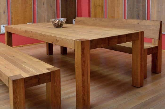 Mesas de madera esco