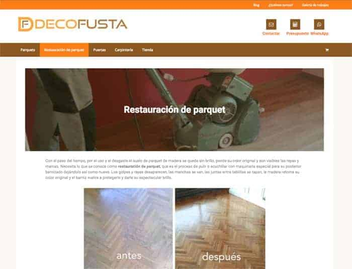 Pagina restauracion de parquet