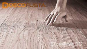 Acabados y texturas de los parquets de madera el cepillado 3D