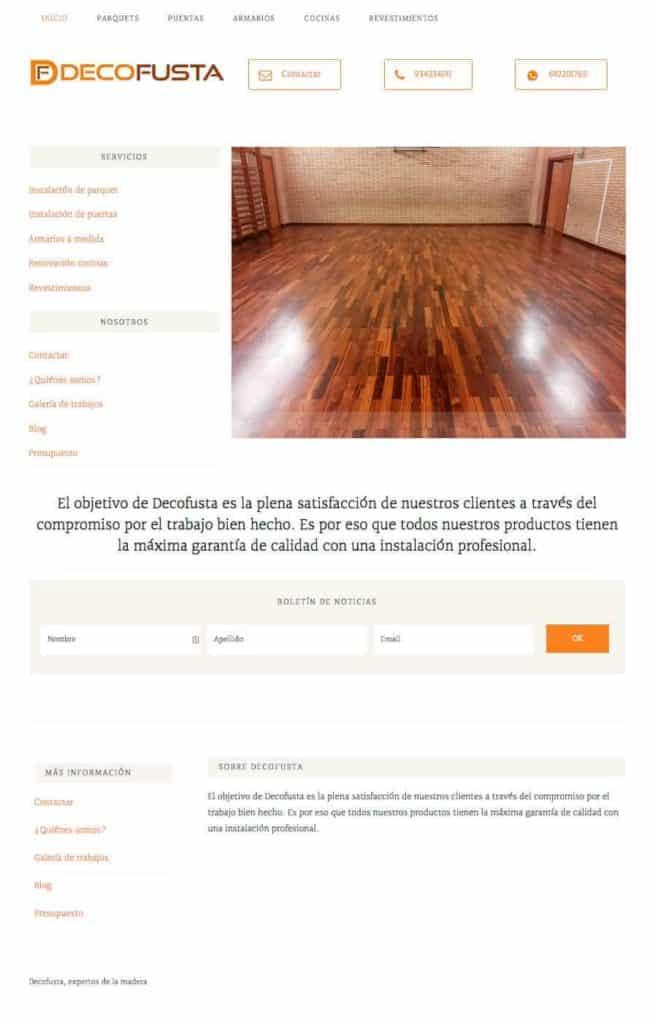 Página de inicio decofusta.net