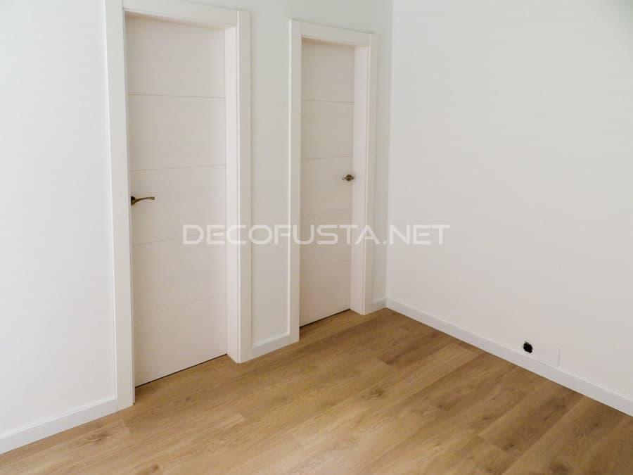 Combinacion de moda, puertas lacada con suelo claro