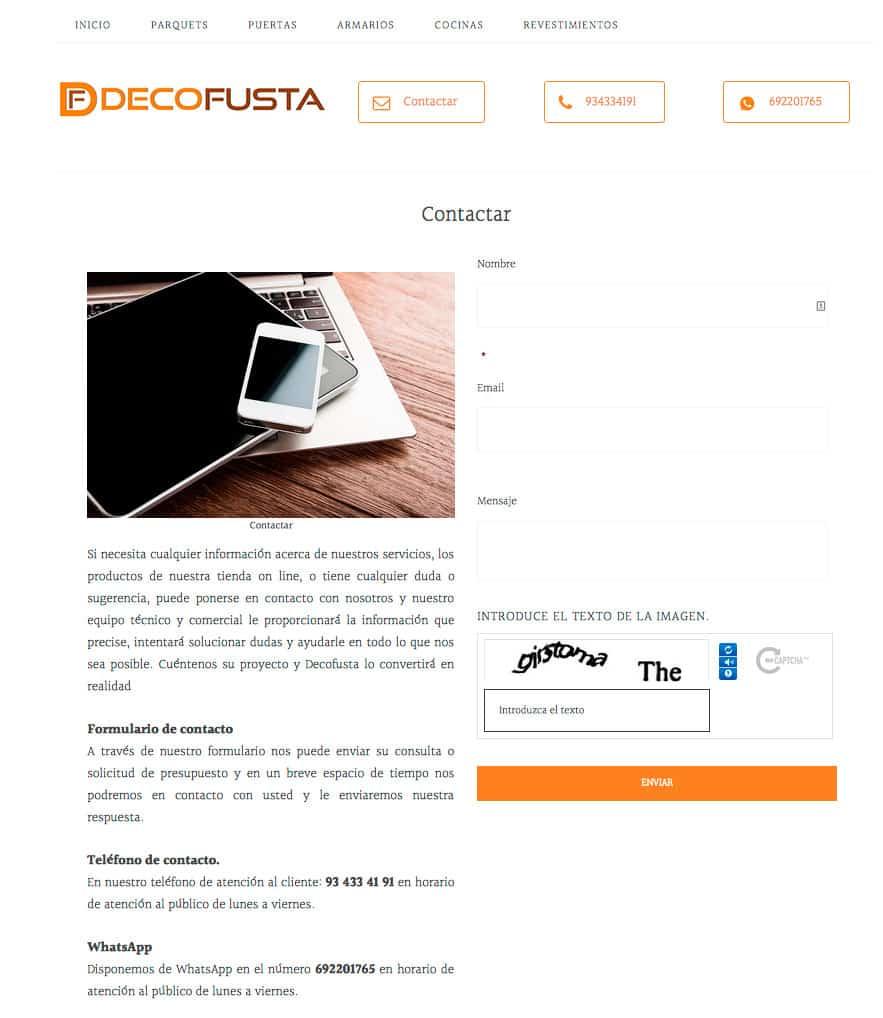 contactar con Decofusta
