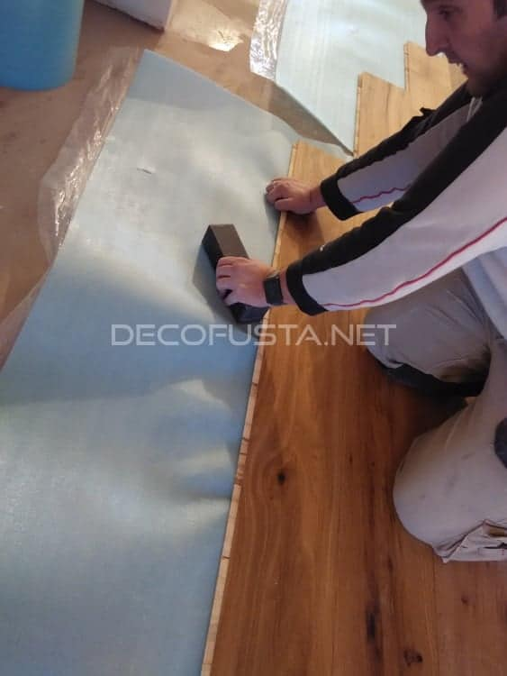 Colocación de parquet sobre suelo nivelado