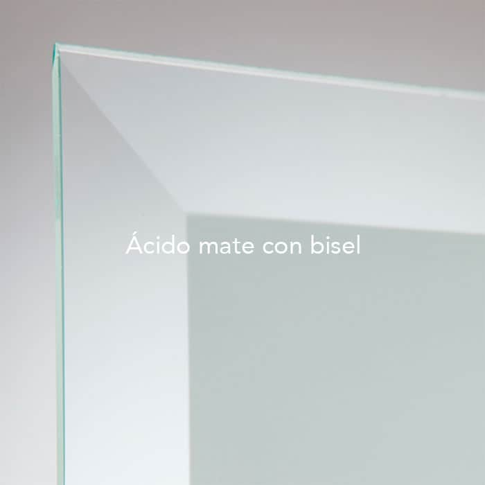 Cristal acido mate con bisel