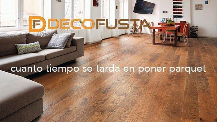 Cuanto tiempo se tarda en poner parquet decofusta for Cuanto cuesta pintar un piso de 100 metros
