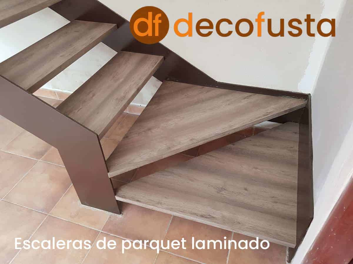 Escaleras de parquet laminado