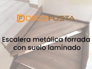 escalera metalica forrada con suelo laminado