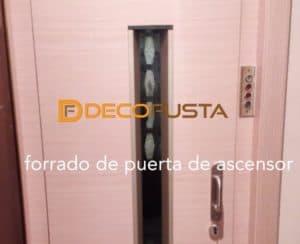 Forrado de puerta de ascensor