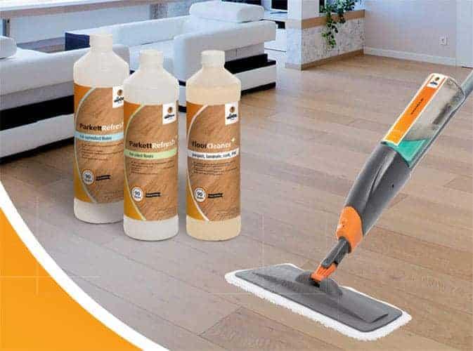 Gama de productos loba para la limpieza y cuidedo del parquet