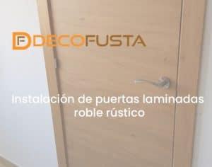 instalacion de puertas laminadas roble rustico