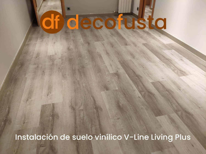 Instalación de suelo vinilico v line living plus