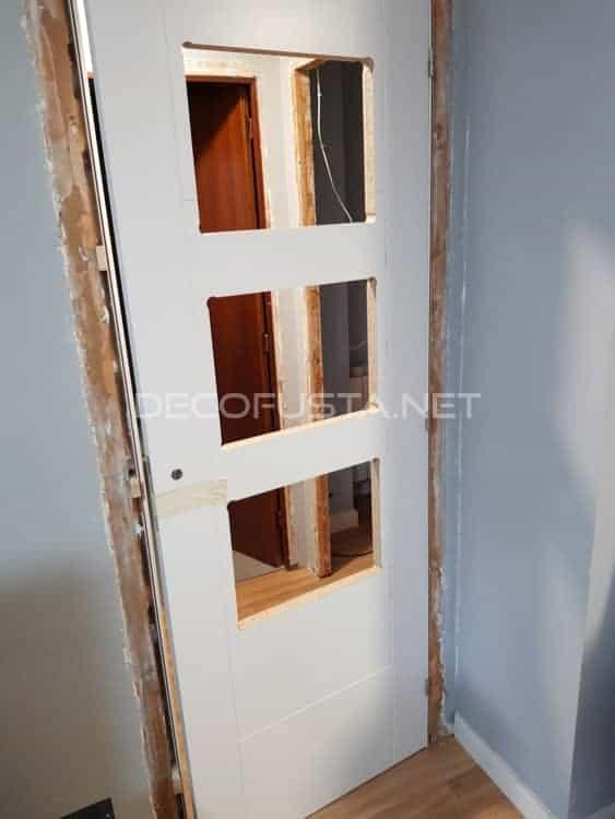 Montaje de las puertas lacadas