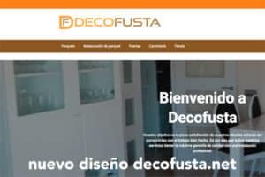 nuevo diseño web decofusta