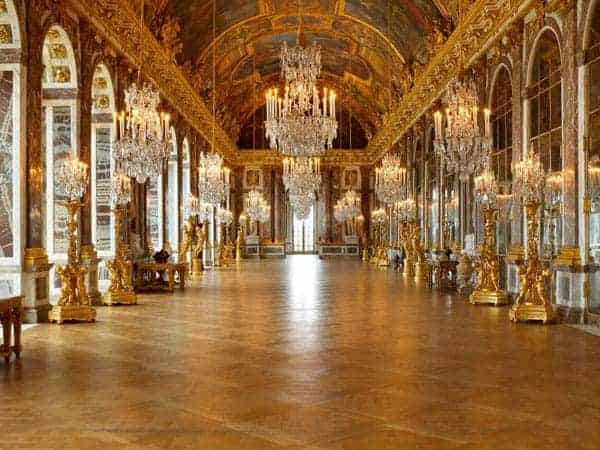 Sala de los espejos del Palacio de Versailles.