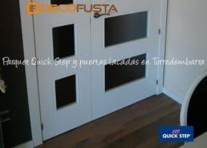 Parquet Quick step, puertas lacadas en torredembarra