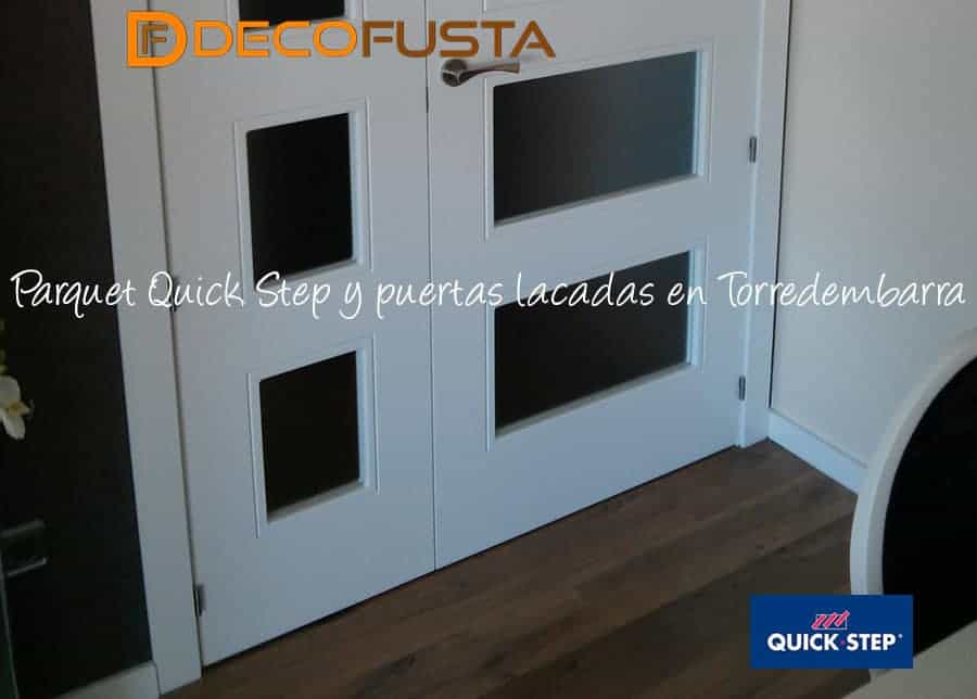 Parquet Quick step puertas lacadas en torredembarra
