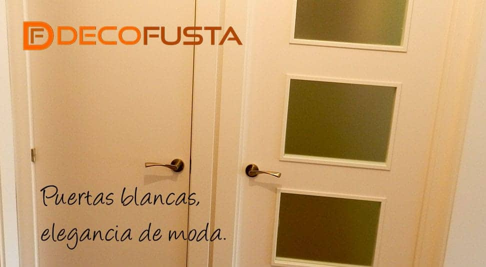 Puertas blancas elegancia de moda