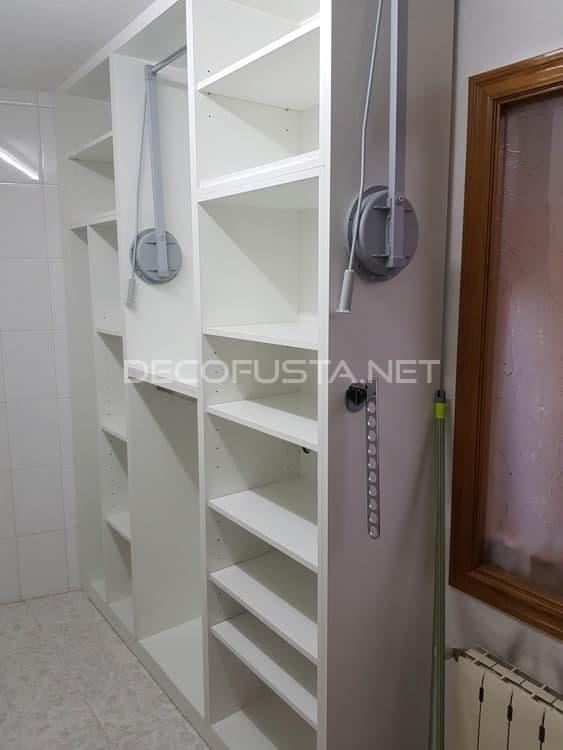 Optimiza el espacio en una habitación lavadero