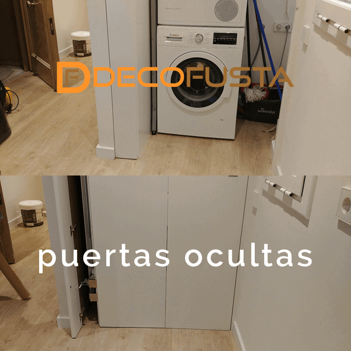 puertas ocultas para lavadero