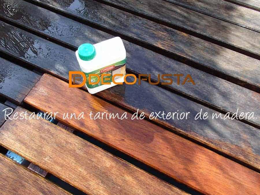 Restaurar una tarima de exterior de madera