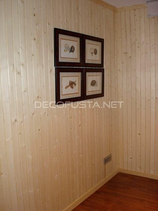 Revestimiento de pared con pino especial
